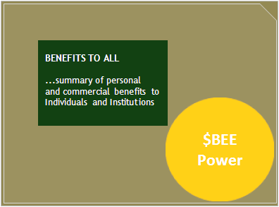 BENEFITS TO ALL... summary of personal and commercial benefits...